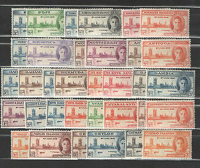 1946  Peace Issue  Seventeen Different Sets    Mint  NH
