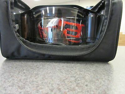 OO7046-18 Oakley Airbrake MX Roll-Off Goggles Factory B1-B Red/Black Clear Lens