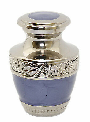 Mini Keepsake Small Cremation Urn for Ashes Funeral Memorial remembrance purple