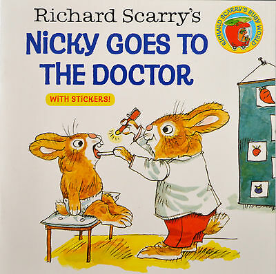 children's story picture book Nicky Goes To The Doctor new stickers