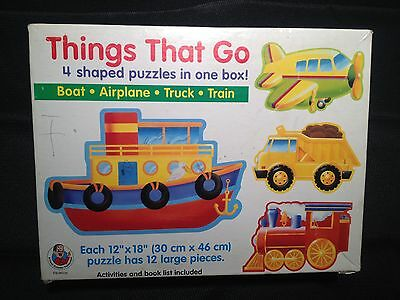 Puzzle Kids boat airplane truck train puzzle 12x18 large pieces FREE Shipping