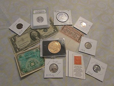 Collection Of Old Us Coins And Currency   Set 3   Will Combine Shipping