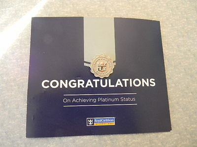 Royal Caribbean Cruise Line RCCL Platinum Crown&Anchor Member Level Pin NEW