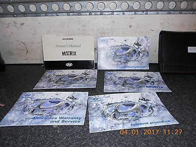 Hyundai Matrix Owners Hand Books From A 2005 Model