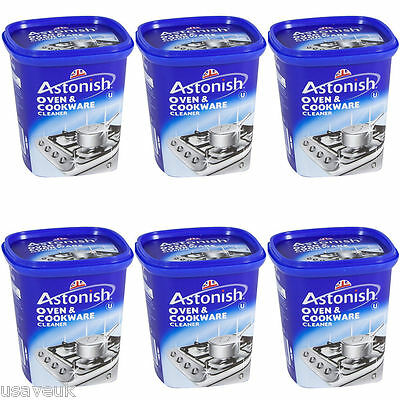 6 x Astonish Oven and Cookware Pans Sink Tiles Cleaner Paste Removes Grease 500g