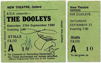 Dooleys The New Theatre, Oxford 27/9/80 *AUTOGRAPHED Ticket