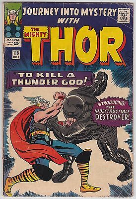 Journey Into Mystery #118 VG- 3.5 The Mighty Thor Destroyer Jack Kirby Art!
