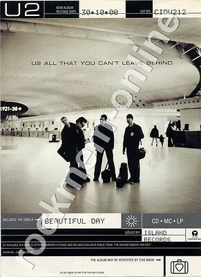 U2 All That You Can't Leave Behind LP Advert