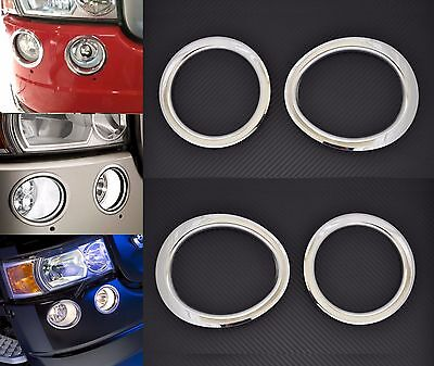 Mirror Stainless Steel Rings Front Fog Lights Decors for Scania R