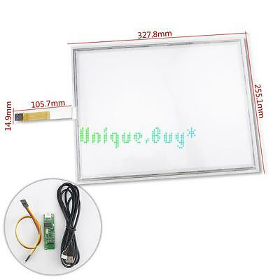 "15.6"" inch 327.8x255.1mm 5 Wire Touch Screen Digitizer Glass Panel Replacement"