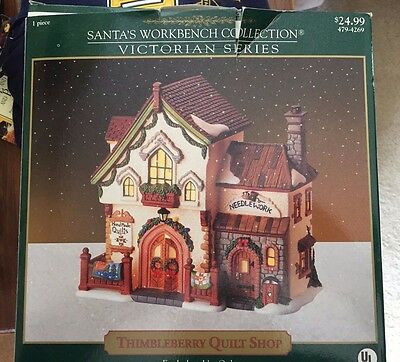 Lighted Santa S Workbench Collection Victorian Series