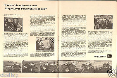1964 2 Page Print Ad of John Deere 4020 Farm Tractor Factory Test