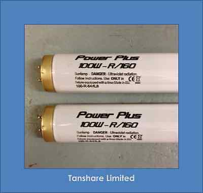 100 Watt Power Plus Sunbed Tubes Lamps 100W Fits Philips And All Home Sunbeds