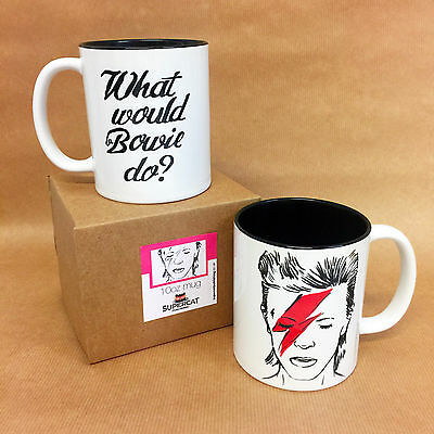 Existential Illustrated David Bowie China Mug dishwasher friendly