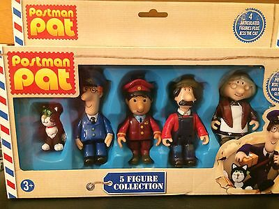 Postman Pat, Jess, Ted, Ajay, Mrs Goggins pack of 5 articulated figures toy set
