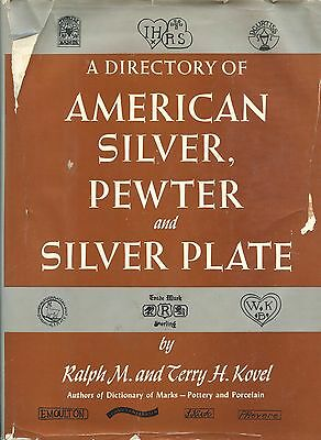 Antique American Silver Pewter Silver Plate - Makers Marks Dates / Scarce Book