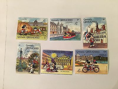 Grenada Grenadines Disney Mnh 1989 Philexfrance Mickey Minnie Mouse Donald Duck