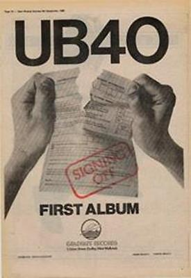UB40 First Album Signing Off Advert NME Cutting 1980