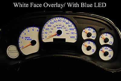 GM Silverado SS Speedometer Cluster Gauge Repair w/ blue LEDs white face overlay