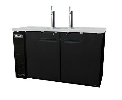 "Migali 60"" 2 Door Back Direct Draw Beer Dispenser - C-Dd60-2"