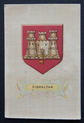 GIBRALTAR Arms of the British Empire Wills Australia Silk Card issued 1910