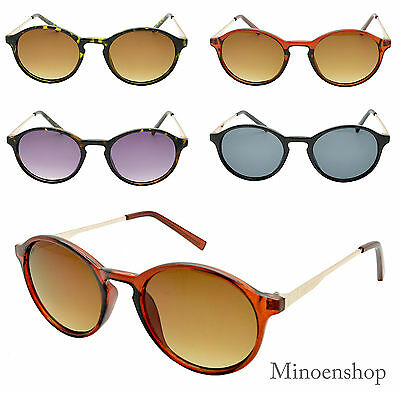 Retro Professor Vintage Oval Frame Sunglasses Hipster Indie Small 50's Glasses