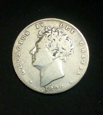 1828 silver sixpence nice coin
