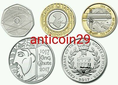 RARE SET 5X 2017 The Brand New Commemorative Coins for 2017