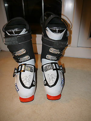 Mens ATOMIC Waymaker Carbon 100 ski boots black, white, orange UK 8.5 - 9 M 26.5