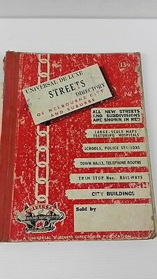 Vintage 1959 Universal deluxe map book of Melbourne Street Directory