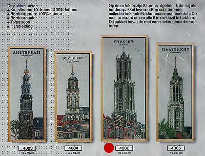 Dutch Cross Stitch Pattern Kit Scheepjeswol Utrecht Holland Approx  9.5 X 23""