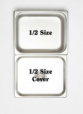 12 x 1/2 150mm Bain Marie Tray 18.10 Stainless Steel / Steam Pan /Gastronorm Pan