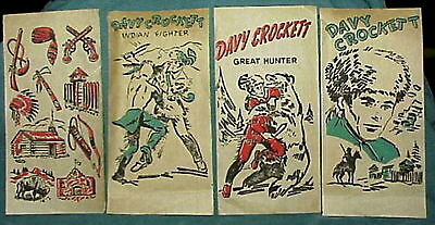48 Davy Crockett Iron On transfer sheets 1950's 4 different scenes