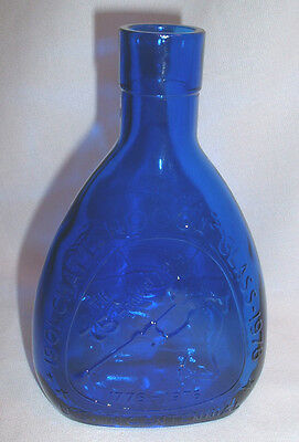 Vintage Chattanooga Glass Cobalt Blue 75th Anniversary Bottle 1901-1976