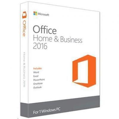 Microsoft Office Home and Business 2016 Medialess 1 User 1 Install Word,Excel, P