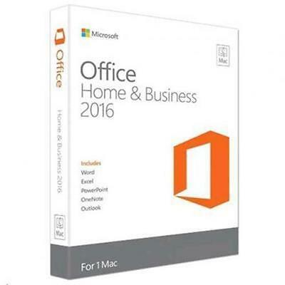 Microsoft Office Mac Home Business 2016 Medialess  1 License Word, Excel, PowerP