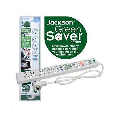 JACKSON 6 way Energy Saving Power Board with Surge & Overload protection incorpo