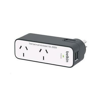 Belkin BST201au International Travel Surge Protector with 2  USB Ports (2.4A) Wi
