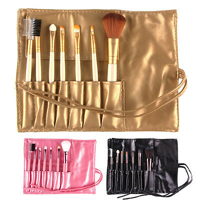 Professional 7pcs Makeup Brush Set Tools Make-up Toiletry Kit Set with Case BEST