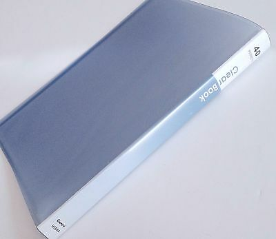 Size A4 40 Pocket Clear Display Book File Folder Blue School College Report