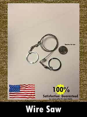 Portable Easy Carry Steel Wire Saw Emergency Camping Hunting Survival Tool