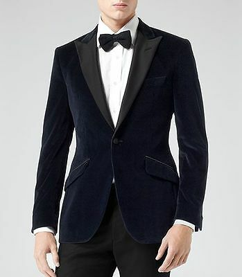 Bespoke Men Wedding Groom Tuxedos Velvet Groomsmen Best Man Suit Business Tuxedo