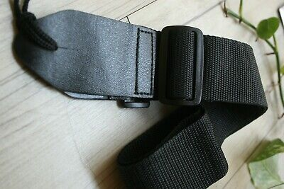 "100% NEW KINGSFORD 2.5"" REAL LEATHER GUITAR STRAP BLACK free shipping"