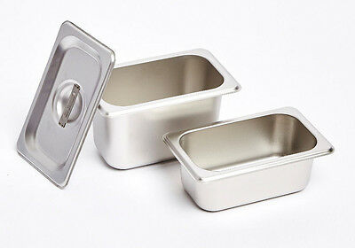 12 x 1/9 Size 100mm Bain Marie Tray / Steam Pan/ Gastronorm Deep Stainless Steel