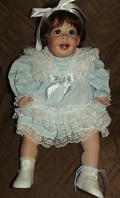 One Of A Kind Porcelain Toddle Doll 24 Inch Fayzah Spanos [Giggles]