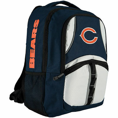 NFL CHICAGO BEARS Captain Backpack Licensed NAVY ORANGE WHITE New with Tags
