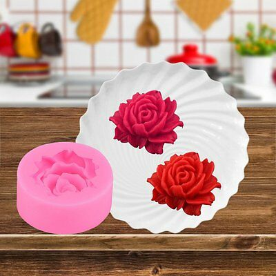 Creative 3D Rose Flower Silicone Mold Gum Paste Fondant Cake Mold Tools DIY GT