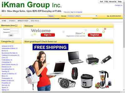 Great Auction Website Free One Year Hosting + Installation