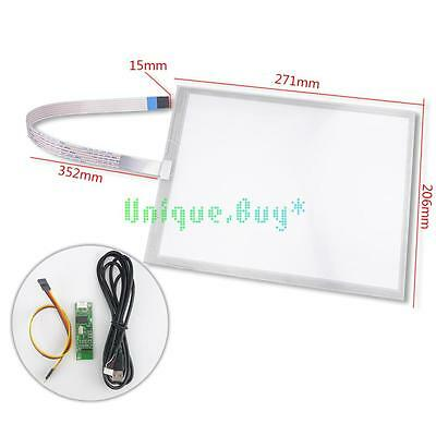 """12.1"""" 5 Wire 271x206mm Resistive Touch Screen Glass Panel Digitizer Sensor"""