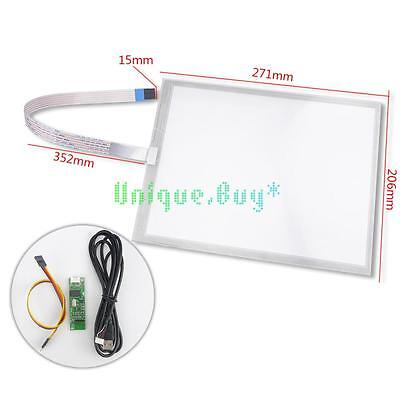 """12.1"""" 5 Wire For 271x206mm Touch Screen Glass Panel Digitizer Replacement Sensor"""